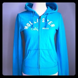 NWT Hollister Blue Hoodie Jacket Medium SOFT!